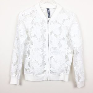 Design Lab | Lord & Taylor Lace Bomber Jacket